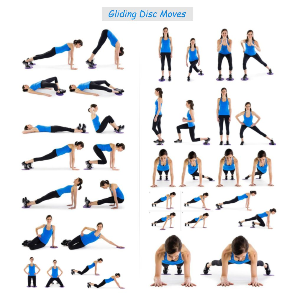 4pc Fitness Gliding Discs For Abdominal Workout